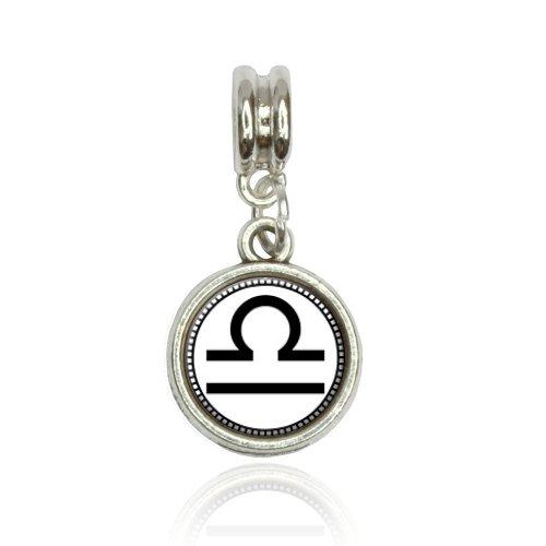 Zodiac Sign Libra Euro European Italian Style Bracelet Bead Charm