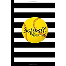 Softball Journal: Wide Ruled 6x9 120 Page Softball Notebook Journal