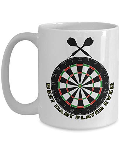 Darts Tournament Coffee Mug | Best Dart Player Ever | Gift for Pub Taverns Bar Mates BIG 15oz or 11oz Cup for Favorite Drink Ice Cream (Best Darts Player Ever)