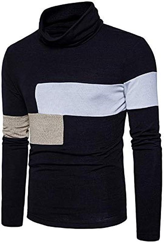 Męski jesień zima sweter dziergany wygląd kołnierz rolowany modny z swetrem Modernas swobodny sweter dziany elegancki długi rękaw Slim Fit wysoki kołnierz gÓrne części topy: O