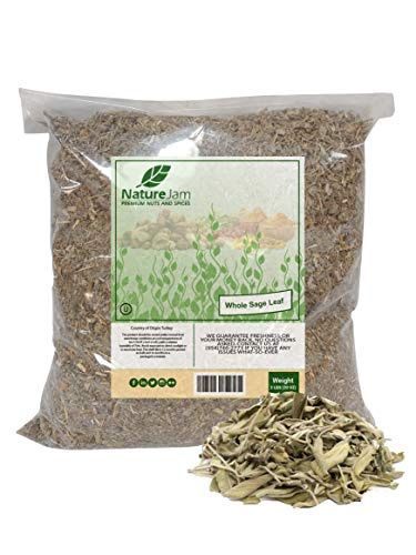 KOSHER BURNING Sage CRUSHED Leaves - Smudged and Rubbed for Incense Salvia officinalis Herbs For Tea (2 Pounds)