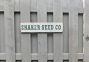 Eyrrme Cartel de Madera Primitive Vintage Shaker Seed Co ...
