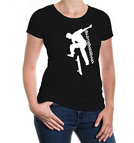 Girlie T-Shirt Skateboarding Black
