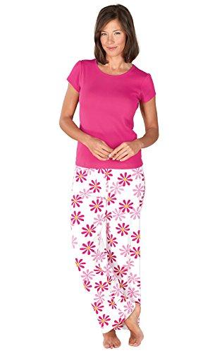 PajamaGram Womens Fuchsia Pajamas T Shirt