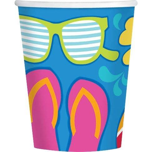 Summer Splash 9oz Cups (18 Pack) - Party Supplies