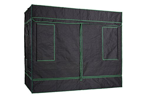 DLS 96''x48''x80'' Mylar Hydroponic Grow Tent with Observation Window and Floor Tray for Indoor Plant Growing by DLS