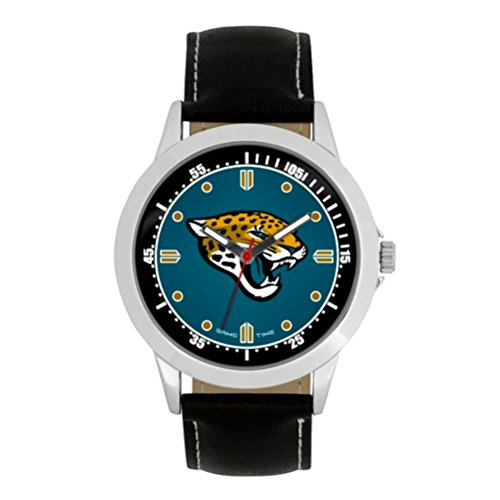 NFL Jacksonville Jaguars Mens Player Series Wrist Watch, Silver, One Size