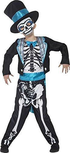 Day Of The Dead Groom Costume Medium Age 7-9 ()