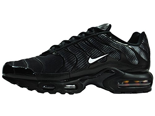 Nike Men's Air Max Plus Black / White / Dark Grey Mesh Cross-Trainers Shoes 13 M US