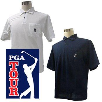 しかしながら暴行上級PGA TOUR PGAツアー 吸汗半袖 ポロシャツ PQ01110005 (USAサイズ) M,ネイビー(190)