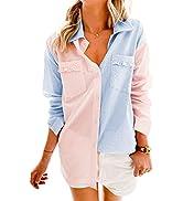 Asvivid Casual Leopard Denim Jacket for Women Long Sleeve Oversized Jean Jacket Boyfriend Trucker...