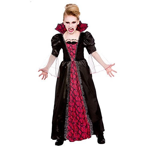Victorian Vampiress - Kids Halloween Fancy Dress Costume