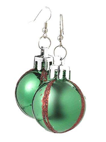 Glittery Christmas Ornament Ball Hook Earrings