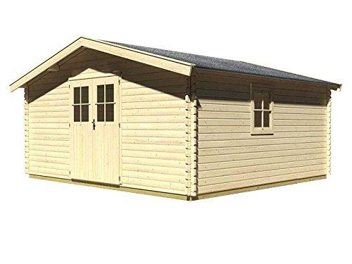 Karibu Woodfeeling Gartenhaus Mühlheim 9 38 mm Blockbohle