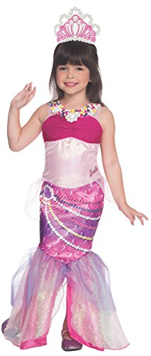 [Rubies Barbie and The Pearl Princess Deluxe Lumina Costume, Toddler Size] (Barbie Fancy Dress Costumes)
