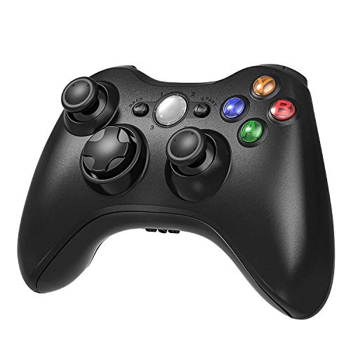 Xbox 360 Wireless Controller, 2.4GHZ Game Joystick Controller Gamepad for Xbox 360 Slim Console & PC Windows 7,8,10 (Black) (Xbox 360 Flash Point)