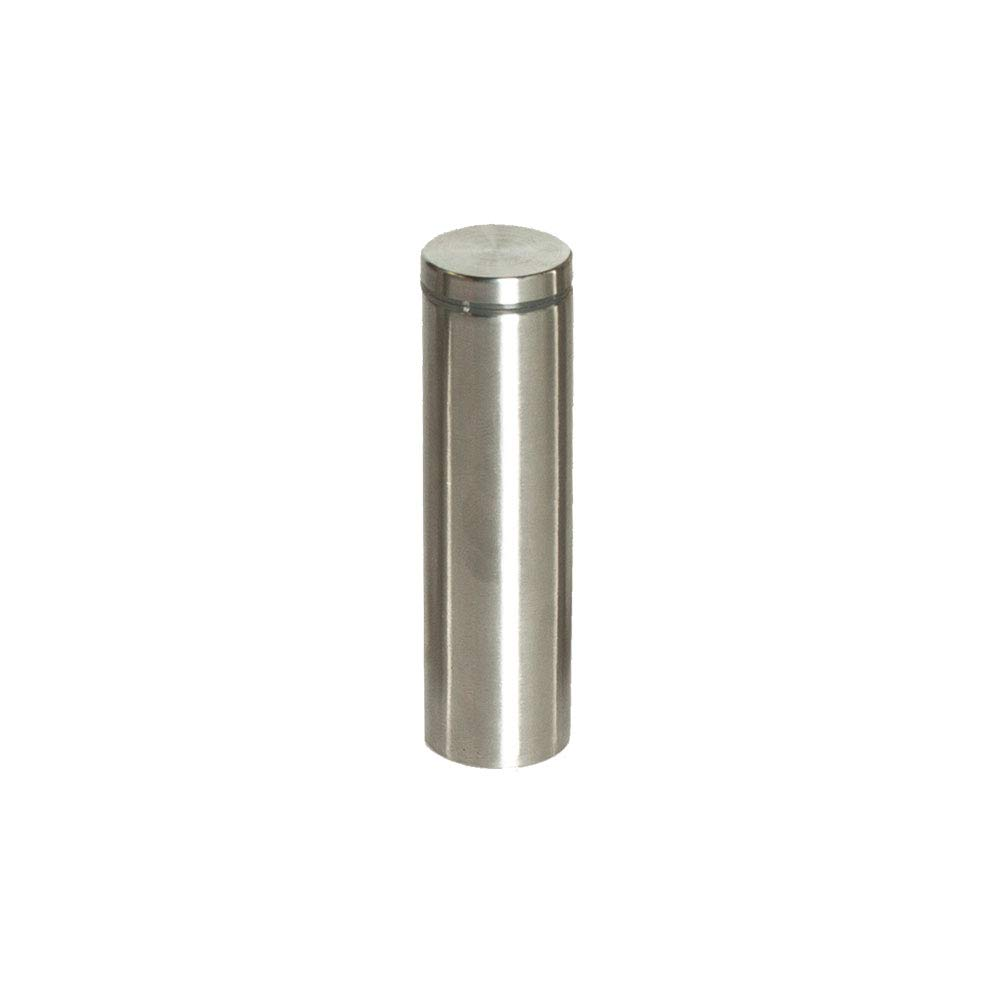 Stainless Steel Standoff 1 Inch Diameter x 4 Inch Barrel Length Brushed Finish for PVC, Glass and Acrylic Sign Stand Off Wall Anchors and Screws 4 Piece Pack for Heavy Signs