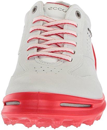 ECCO Mens Cage Pro Golf Shoe White/Scarlet wpVgv5