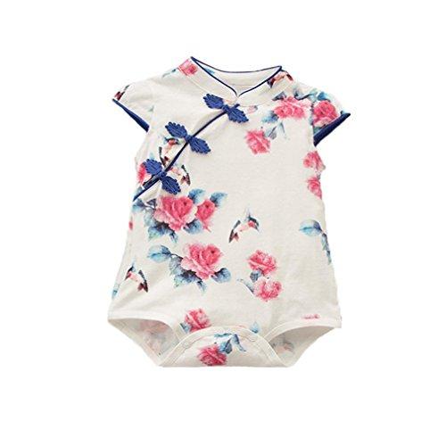 Samgu Bebé Recién Nacido Rompers Novedad Cheongsam Disfraces Conjunto Jumpsuit Bodysuit: Amazon.es: Ropa y accesorios