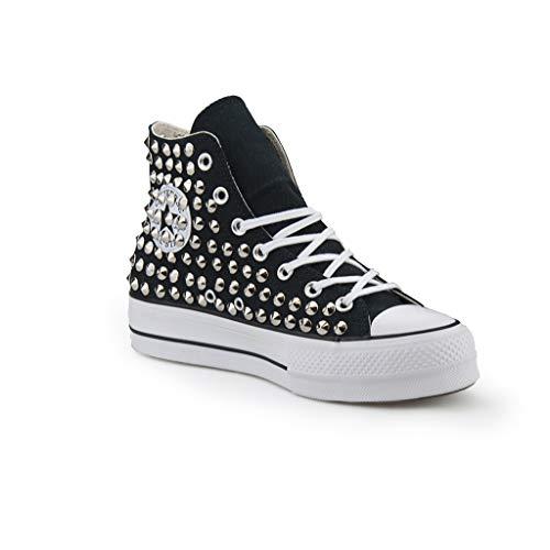 21 scarpe scarpe scarpe artigianali Cono Argento Nera Star Converse All Borchie Con   a6f930