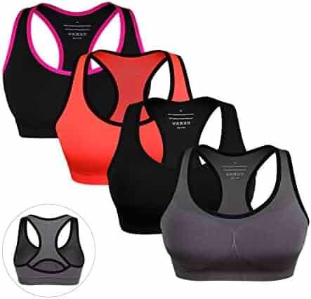 79263b0d07389 Women Racerback Sports Bras High Impact Padded Seamless Workout Gym  Activewear Yoga Bra