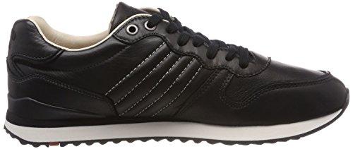 Herrenschuh aus mit sportiver LLOYD Leder Sneaker Gummisohle heller Schwarz EDICO Black Ixqwwd1