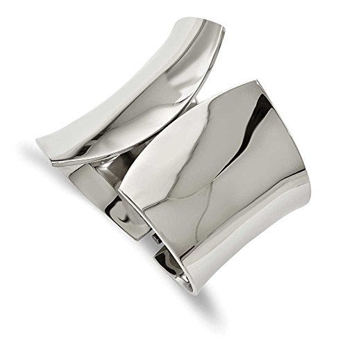 Bracelet Jonc à charnière en acier inoxydable poli