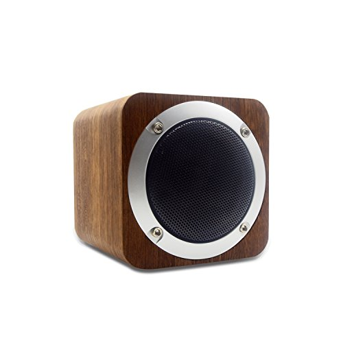 Bluetooth Speaker Wooden, Portable Bluetooth 4.0 Speakers with 10h Play Time, Wireless Computer Speaker with Enhanced Bass Resonator by Haze