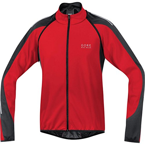 GORE BIKE WEAR, Men´s, 2 in 1 road cyclist jacket, GORE WINDSTOPPER Soft Shell, PHANTOM 2.0, Size L, Red/Black, (Mens Technical Cycling Jackets)