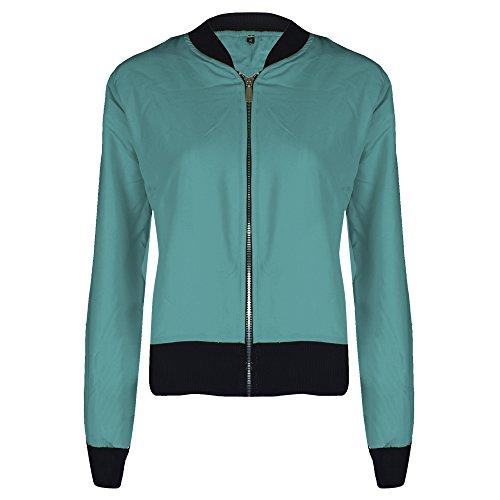 UK Girls 6 New Jacket Lightweight Top Coat Bomber Size Turquoise Ladies Womens Summer 12 PxwxWYrqzE