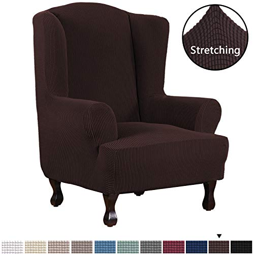 Roll Arm Wingback Chair - 7