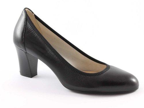 MELLUSO D064 zapatos negros Mujer decollet elástica suela de goma Nero