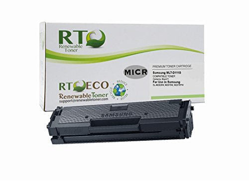 Renewable Toner Compatible MICR Toner Cartridge Replacement for Samsung MLT-D111S SL-M2020W M2070W M2070FW