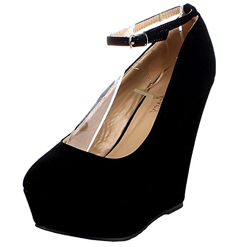 New Black Wedge Heel - 3