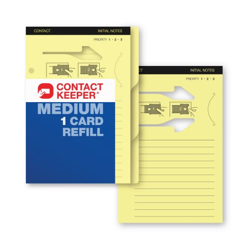 Contact Keeper Business Cards & Notes Holder Refill, Medium 1 Card (800210)