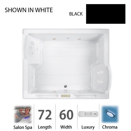 Price comparison product image Jacuzzi FUZ7260CCR4CHB Fuzion 7260 Salon Spa Bath UM w / Chromatherapy,  Black