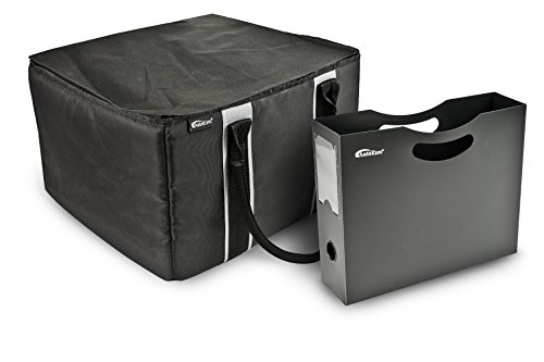 - AutoExec AETote-03 Black/Grey File Tote with One Hanging File Holder