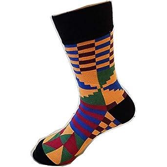 Wheel - Black Gold Green Blue | Kente Socks | Colorful Socks