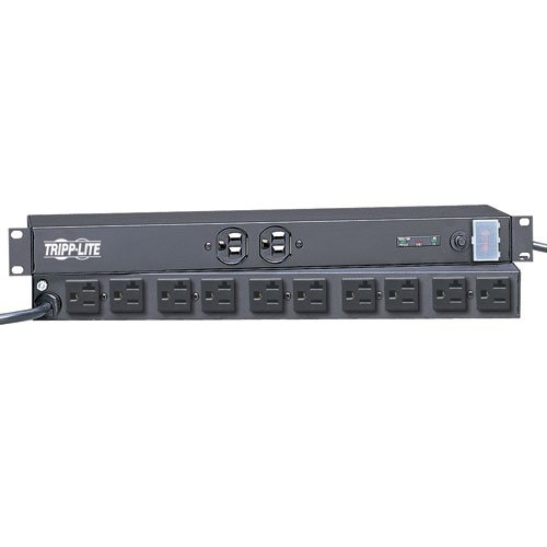 RGE PROTECTOR RACKMOUNT 15/20A 12 OUTLET 15FT CORD 1URM ()
