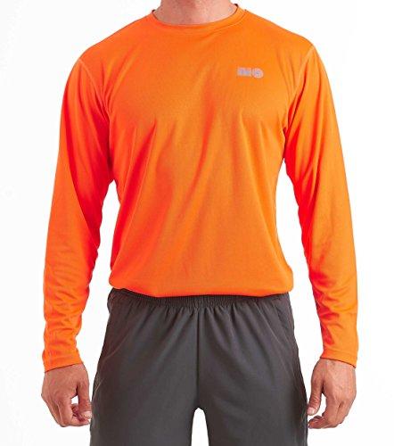 time to run Men's Favourite Long Sleeve Wicking Running/Gym/Workout T Shirt Top Large 42