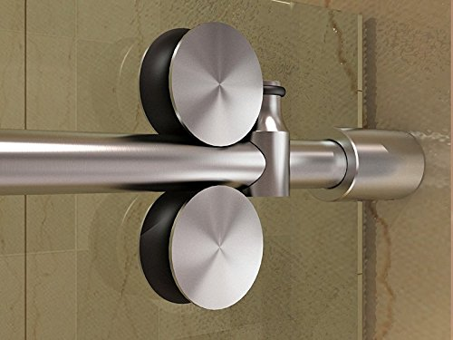 DIYHD 5ft Frameless stainless steel brushed satin sliding...