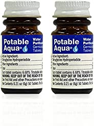 Potable Aqua Water Purification Treatment - Portable Drinking Water Treatment For Camping, Emergency Preparedn
