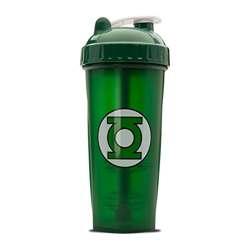 Performa Perfect Shaker - Green Lantern Shaker Bottle, Best Leak Free Bottle with Actionrod Mixing Technology for Your Sports & Fitness Needs! Dishwasher and Shatter Proof