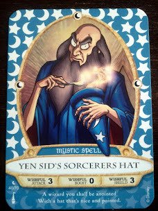 Sorcerers Mask of the Magic Kingdom Game, Walt Disney World - Card #40 - Yen Sid's Sorcerers Hat