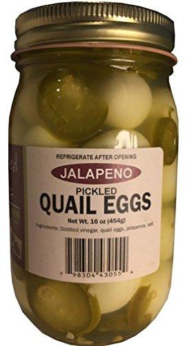 b42832e862ee Amazon.com : Twisted Pine Quail Farms Jalapeño Pickled Quail Eggs ...