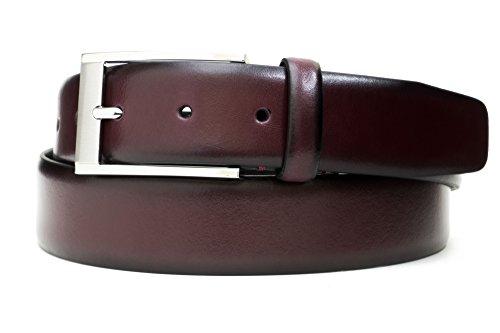 Burnished Leather Belt (34, Burgandy)
