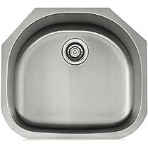 Lenova LS18303 Apogee 18-Gauge Stainless Steel Single Bowl Undermount Kitchen Sink