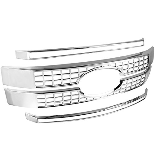 Ford F250 F350 F450 F550 SuperDuty Front Hood Grille Grill Overlay Chrome Cover
