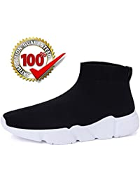 Mens Womens Casual Walking Sneaker Shoes Black...