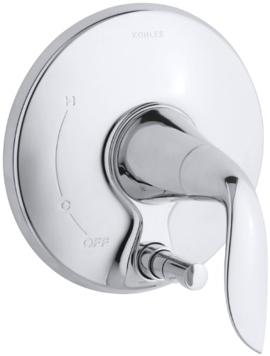 KOHLER K-T5321-4-CP Refinia Valve Trim with Push-Button Diverter, Valve Not Included, Polished Chrome